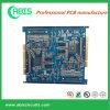 4 Camadas Blue Solder Mask Board com Imersão Gold + Gold Finger PCB Manufacturing