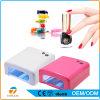 직업적인 예술 분홍색과 백색 36W UV LED 못 램프