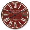 Reloj de pared de MDF Vintage-Red