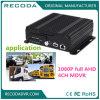4G GPS Vehicle DVR com 1080 Pixel Dual SD Card Storage para o ônibus de carro de polícia