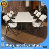 En el exterior de metal barato plástico blanco silla plegable para la venta