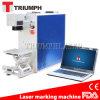 Machine de gravure titanique en acier de laser de fibre de fer de cuivre argenté d'or