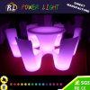 Mobilier lumineux LED en plastique multicolore la modification de table à manger