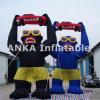 Draußen förderndes aufblasbares Gorilla-Zeichen für Verkauf