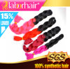 Синтетический тон Ombre 2 волос покрасил выдвижение 100% волос оплетки коробки Kanekalon слон Lbh 048