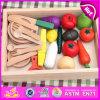 El juguete de madera a estrenar del alimento del corte 2016, juguete vegetal del corte de madera educativo, finge el juguete de madera W10b147 del corte del juego