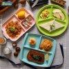Alimentos de alta qualidade servindo pratos de cerâmica da placa de porcelana Placas Dividida