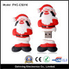 2GB 4GB 8GB Rubber Santa Claus USB Flash Drivers (PVC-CS016)