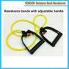 Übungs-Widerstand-elastisches Naturkautschuk-Band-Set mit Griffen