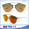2017 lunettes de soleil de revêtement polarisées par mode neuve en métal de créateur de marque