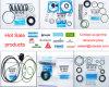 Atlas Copco Druckschaltventil-Satz-Luftverdichter-Teil-Reparatur-Satz