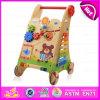 2015 New Arrival Learning Wooden Baby Walker Toy, Multifuncional Woodeen Walker, brinquedo educativo de madeira Baby Walker Trolley W16e034