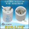 E12 base tipo candelabro de porcelana Portalámparas E12j-1 #
