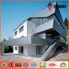 Panneaux de revêtement en aluminium de conception de bâtiment à la maison de peinture créatrice d'argent