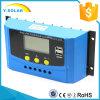 regolatore solare del caricatore di 12V/24V 20AMP USB-5V/2A per il sistema solare Cy-K20A