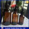 botellas de cristal del cuentagotas del petróleo esencial 4oz para la venta