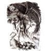 La piuma nera traversa l'autoadesivo volando provvisorio impermeabile del tatuaggio