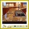 Partie supérieure du comptoir Polished de granit de Giallo Cecifia de pierre normale pour la cuisine/salle de bains (YQC)