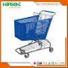 180 litri del supermercato di carrello di acquisto di plastica con il cestino di plastica
