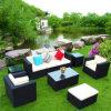 フォーシャンFatcoryのアルミニウム粉の上塗を施してある屋外の家具のRttanのソファー