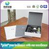 Caja de papel gris Junta de almacenamiento con Folletos para la promoción