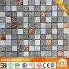 Galería de pared exterior de acero inoxidable y vidrio mosaico (M823076)