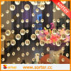 Decorative transparente Round Crystal Bead Curtain para o quarto Decoration Dividers