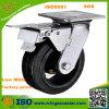 Waste resistente Container Black Rubber Caster Wheel con Brake