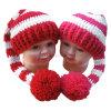 Cappello della coda del regalo POM POM dell'acquazzone di bambino del cappello del Crochet della mano