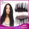 Curly profondo 1b# Virgin Burmese Hair 13*4 Lace Frontal