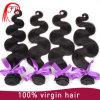 Extensão do cabelo do Virgin dos Peruvian da trama 100% do cabelo humano