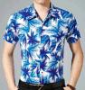 Camicia hawaiana 100% degli uomini del poliestere