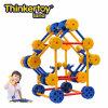 La pista de Thinkertoy bloquea la horquilla educativa del parque de atracciones de la serie del parque del juguete (P6203)