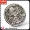 Kundenspezifische Hauptmetallmünze des portrait-3D für Jahrestag