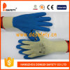 Ddsafety 2017 Coton avec Polyester Liner Crinkle Latex Gants