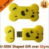 Mecanismo impulsor del flash del USB del hueso para el regalo del PVC (YT-6433)