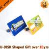Vara personalizada do USB do cartão de crédito do logotipo como os presentes do banco (YT-3101)