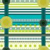 100%Polyester de groene Afgedrukte Stof van het Kenteken Pigment&Disperse voor de Reeks van het Beddegoed