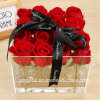 Handmade акриловая коробка подарка цветка на день Valentine