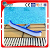 Brosse courante de piscine de 18 pieds / 45 cm courbée en poly basite