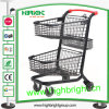CE & iso Approved Two Tier Grocery Shopping Cart da vendere