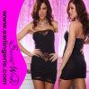 5404黒い卸し売りElegant Beauty Strapless Lace Patchwork Sexy Clubwear Party Lingerie Dress
