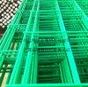 가시철사를 가진 녹색 PVC 입히는 철망사 담