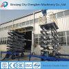 Quatro Rodas hidráulicas mesa de elevação elétrica com embalagens de madeira