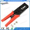 Инструмент обжатия провода CCTV для F/BNC/RCA делает разъемы водостотьким (T5082)