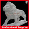 Lion Marble Sculptures Stone Carving Animal Statue en marbre pour Garden Home Hotel