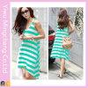 Commerce de gros robe vert d'été derniers designs pour dames (50141-1)