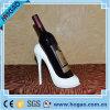 High Heel Polyresin animal titular de la botella de vino de impresión