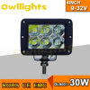 Motorfiets, Tractor, Truck, van Road 4X4 30W LED Spot Work Light, LED Light Bar