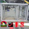 A cor branca várias janelas de dobragem UPVC com Hardware Siegenia-Aubi